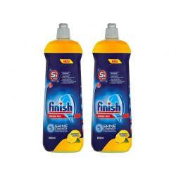 Εκθαμβωτικό Υγρό Πλυντηρίου Πιάτων Finish Rinse Aid Λεμόνι 800 ml 2 τμχ Fin-RINSE800-L-2PCS