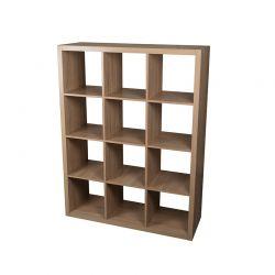 Ξύλινη Βιβλιοθήκη με 12 Ράφια 110 x 39 x 146 cm Homestyle 01502
