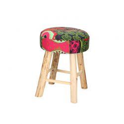 Ξύλινο Σκαμπό με Υφασμάτινο Κάθισμα 30 x 42 cm BATIK 01191