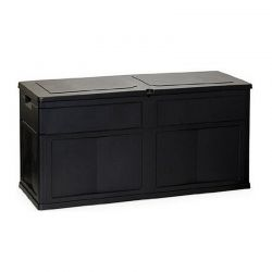 Πλαστικό Μπαούλο 120 x 46 x 60 cm 320 Lt Χρώματος Μαύρο TOOMAX 01603