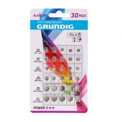 Σετ Αλκαλικές Μπαταρίες Κουμπιά 1.5 V 30 τμχ Grundig 85574