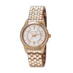 Γυναικείο Ρολόι Χρώματος Ροζ - Χρυσό με Μεταλλικό Μπρασελέ Pierre Cardin Troca PC106582F08