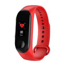Ρολόι Fitness Tracker με Πιεσόμετρο και Μετρητή Καρδιακών Παλμών Χρώματος Κόκκινο M3C Plus SPM M3CSW-RED