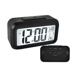 Ρολόι - Ξυπνητήρι με Οθόνη LED Χρώματος Μαύρο SPM 6583
