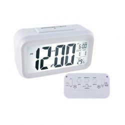 Ρολόι - Ξυπνητήρι με Οθόνη LED Χρώματος Λευκό SPM 6484