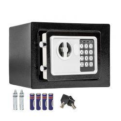 Χρηματοκιβώτιο Ασφαλείας με Ηλεκτρονική Κλειδαριά και Κλειδί 17 x 22.8 x 17 cm Hoppline HOP1000730-1