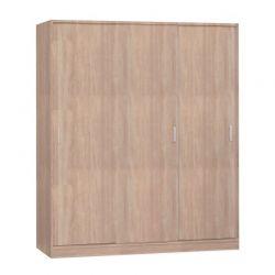 Ξύλινη Ντουλάπα με 3 Συρόμενες Πόρτες 171 x 145 x 58 cm SPM Oviedo 3 3513252