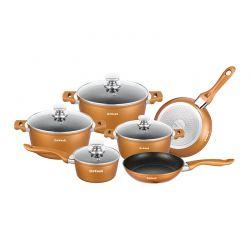 Σετ Μαγειρικών Σκευών Dekoch 10 τμχ Χρώματος Copper DK-S100 COP