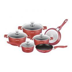 Σετ Μαγειρικών Σκευών Dekoch 10 τμχ Χρώματος Κόκκινο DK-S100 BUR