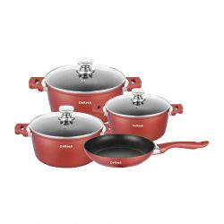 Σετ Μαγειρικών Σκευών Dekoch 7 τμχ Χρώματος Κόκκινο DK-S700 BUR