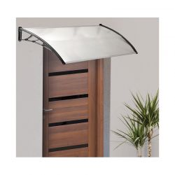 Πλαστικό Κιόσκι - Τέντα Πόρτας Εισόδου 80 x 100 cm Χρώματος Λευκό 30060106