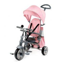 Τρίκυκλο Παιδικό Ποδήλατο με Λαβή Ελέγχου 4 σε 1 KinderKraft Jazz Χρώματος Ροζ