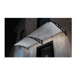 Διπλό Πλαστικό Κιόσκι - Τέντα Πόρτας Εισόδου με Ηλιακό LED Φωτισμό 80 x 300 cm SPM 40070222