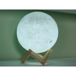 Επαναφορτιζόμενο Φωτιστικό Αφής Φεγγάρι 3D με LED GloBrite VL3094