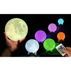 Επαναφορτιζόμενο Φωτιστικό Αφής Φεγγάρι 3D με LED Εναλλασσόμενο Φωτισμό και Τηλεχειριστήριο GloBrite VL3490