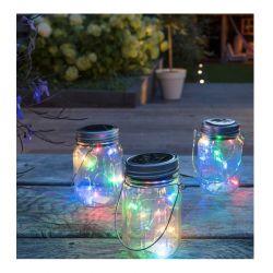Σετ Ηλιακά Διακοσμητικά Βάζα με LED Πολύχρωμο Φωτισμό 3 τμχ LED Lovers 8715342014722