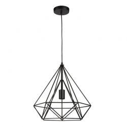 Κρεμαστό Μονόφωτο Φωτιστικό Οροφής Χρώματος Μαύρο Uppsala Lifa-Living 8718226906984