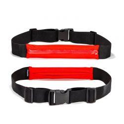 Αδιάβροχη Επεκτάσιμη Ζώνη Τρεξίματος 58 - 109 cm Χρώματος Κόκκινο SPM RunBelt-RED