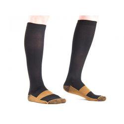 Κάλτσες Διαβαθμισμένης Συμπίεσης με Ίνες Χαλκού 2 τμχ Χρώματος Μαύρο Large SPM DB3640