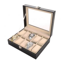 Κομψή Κοσμηματοθήκη 10 Θέσεων SPM Watch10-case-BLACK
