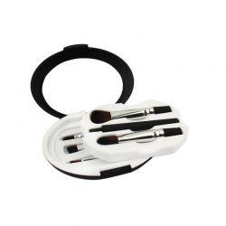 Mini Σετ Πινέλων Μακιγιάζ Travel Kit Χρώματος Μαύρου SPM DB4016