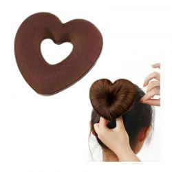 Μπομπάρι Μαλλιών σε Σχήμα Καρδιάς Χρώματος Καφέ SPM HeartBun-BROWN