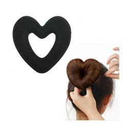 Μπομπάρι Μαλλιών σε Σχήμα Καρδιάς Χρώματος Μαύρο SPM HeartBun-BLACK