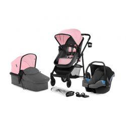 Παιδικό Καρότσι 3 σε 1 Χρώματος Ροζ KinderKraft JULI