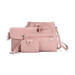 Σετ Γυναικείες Τσάντες Χρώματος Ροζ 4 τμχ SPM DB4442