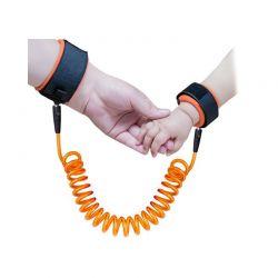 Βραχιόλι Ασφαλείας Παιδιού με Σπιράλ Καλώδιο Χρώματος Πορτοκαλί SPM ChildHarness-ORG