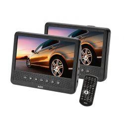 "DVD Player 7"" με 2 Οθόνες LCD Θύρα USB και Τηλεχειριστήριο AEG DVD4555"