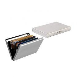 Ατσάλινη Θήκη Για Κάρτες Χρώματος Ασημί SPM DB4692