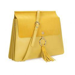 Γυναικεία Τσάντα Χιαστί Χρώματος Κίτρινο Beverly Hills Polo Club 601 657BHP0544