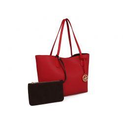 Γυναικεία Τσάντα Χειρός Χρώματος Κόκκινο Beverly Hills Polo Club 402 657BHP0770