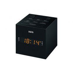Ραδιορολόι - Ξυπνητήρι με Οθόνη LED Καθρέπτη USB/AUX-IN Χρώματος Μαύρο AEG MRC4150