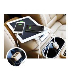 Φορτιστής Αυτοκινήτου USB Υψηλής Ταχύτητας 3 Εισόδων 5.1-amp