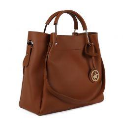 Γυναικεία Τσάντα Χειρός Χρώματος Καφέ Beverly Hills Polo Club 396 650BHP0658