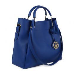 Γυναικεία Τσάντα Χειρός Χρώματος Μπλε Beverly Hills Polo Club 396 650BHP0661