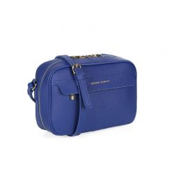 Γυναικεία Τσάντα με Διπλό Φερμουάρ Χρώματος Μπλε Laura Ashley Furley 651LAS0839