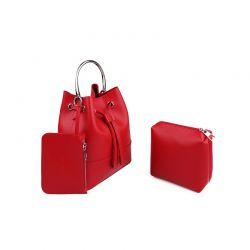 Γυναικεία Τσάντα Χειρός με Μεταλλική Λαβή Χρώματος Κόκκινο Laura Ashley Kensington 651LAS0950