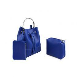 Γυναικεία Τσάντα Χειρός με Μεταλλική Λαβή Χρώματος Μπλε Laura Ashley Kensington 651LAS0948
