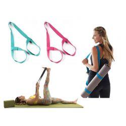 Ιμάντας για Στρώμα Γιόγκα Yoga Mat Carrier and Stretch Assister Χρώματος Ροζ SPM YogaMatStrap-PINK