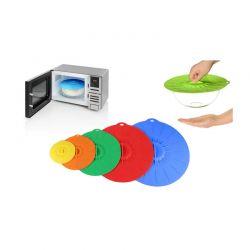 Σετ Καπάκια Πιάτων Από Σιλικόνη για Φούρνο Μικροκυμάτων 5 τμχ SPM VL3273