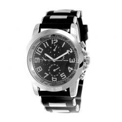 Ανδρικό Ρολόι με Λουράκι Σιλικόνης Χρώματος Μαύρο So Charm MH007