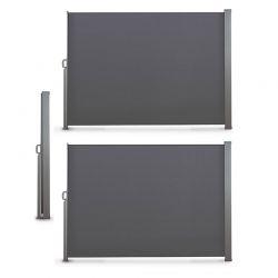 Διπλό Προστατευτικό Ρολό για τον Ήλιο και τον Αέρα 160 x 600 cm Χρώματος Ανθρακί 30090002