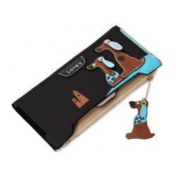 Γυναικείο Πορτοφόλι - Θήκη Καρτών Χρώματος Μαύρο SPM DB4509