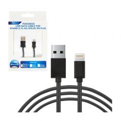 Καλώδιο Φόρτισης Braided USB to Lightning Τύπου C για Συσκευές Apple 1 m FX R165503