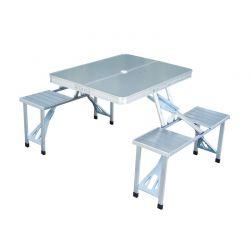 Πτυσσόμενο Βαλιτσάκι Τραπέζι Αλουμινίου Πικ Νικ με 4 Θέσεις Outsunny 01-0010