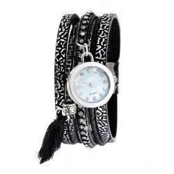 Ρολόι - Βραχιόλι με Κρύσταλλα Βοημίας So Charm MF+B1183-NOIR