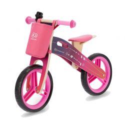 Παιδικό Ξύλινο Ποδήλατο Ισορροπίας Με Αξεσουάρ Χρώματος Ροζ KinderKraft Runner Galaxy